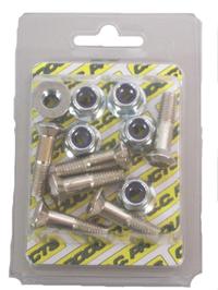 M8 Drevbult med mutter 25 mm 6-pack