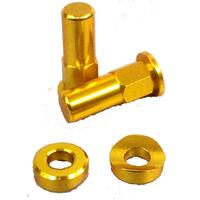 Rim lock nuts gold