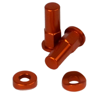 Rim lock nuts orange