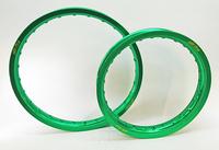 16x1,85 SM Pro Grön Fälg 28H